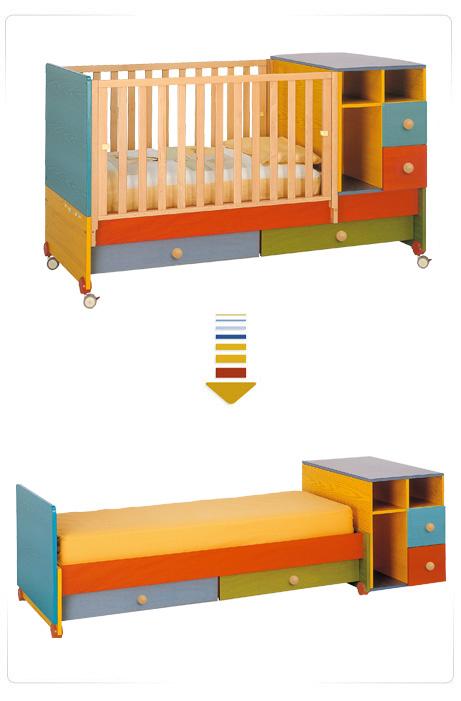 Lettini per bambini con sponde regolabili sponda lettino for Misure materasso lettino