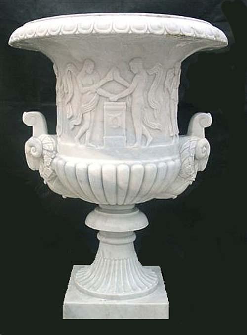 vaso in marmo antico di carrara ideale per arredo giardino 1126 big
