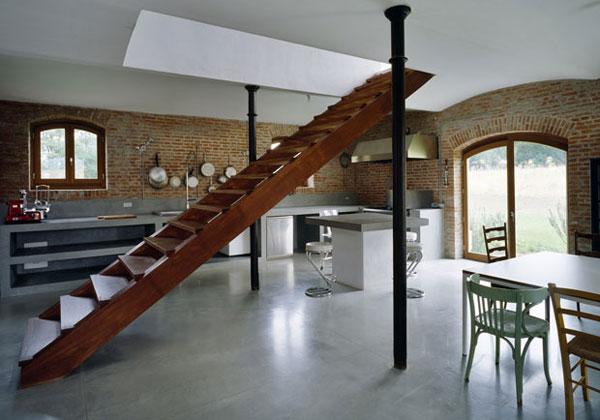Una scala giusta per ogni stile i - Escaleras rusticas de interior ...