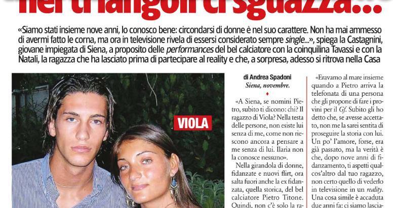 Pietro Titone, la ex fidanzata e i tradimenti