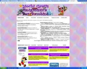 Giochigratisenigmisticaperbambini.com un mondo di giochi per i più piccoli
