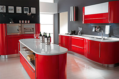 Cucina moderna color rosso - Notizie.it