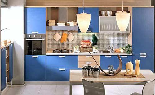 Cucina moderna con linee nuove e moderne for Cucina azzurra