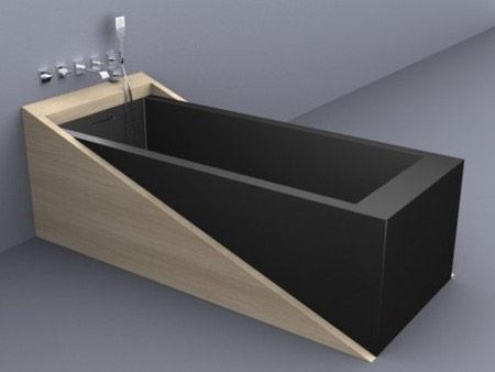 Vasca da bagno avveniristica - Vasca da bagno nera ...