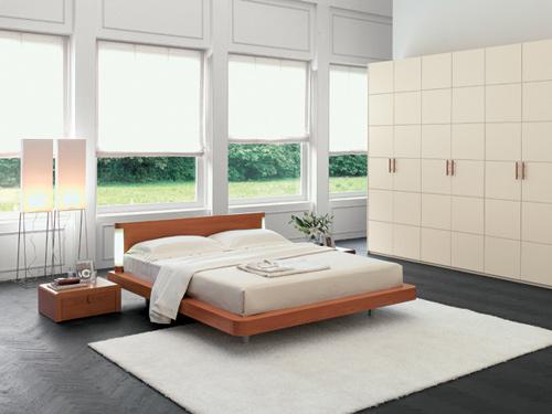 Moderna e rvoluzionaria camera da letto Santa Lucia in legno di ...