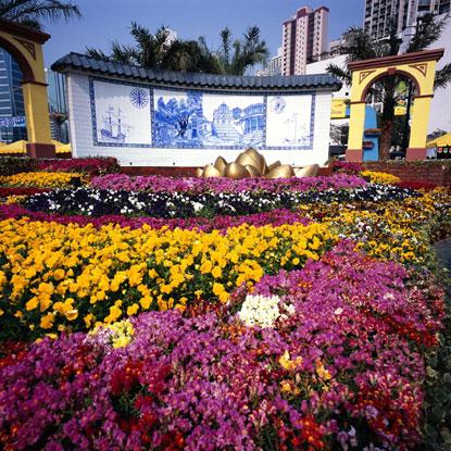 Moderno giardino fiorito di honk kong for Giardino fiorito