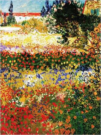 Moderno quadro di van gogh che rappresenta un esilarante for Alberelli da giardino fioriti