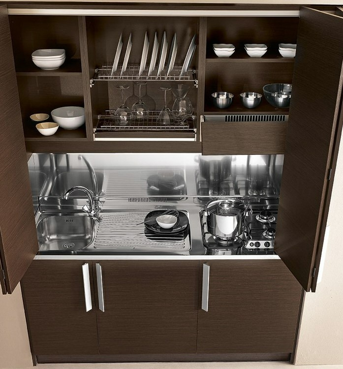 Awesome Cucine A Scomparsa Per Monolocali Pictures - Ideas ...