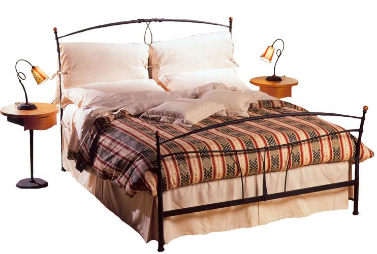 Moderno letto in ferro battuto rodrigo for Letto ferro battuto moderno