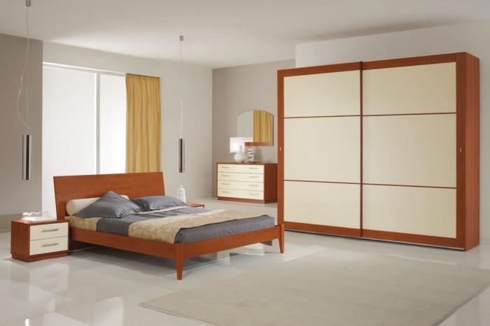Camera da letto moderna in ciliegio - Notizie.it