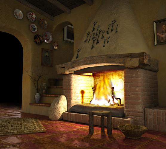 Moderno ed accattivante camino rustico: ideale per le case in campagna ...