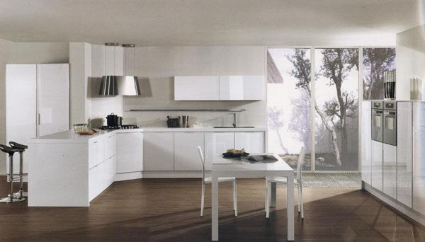 Moderna e elegante cucina for Cucina moderna con finestra