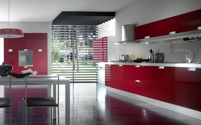 Cucina laccata rossa - Notizie.it