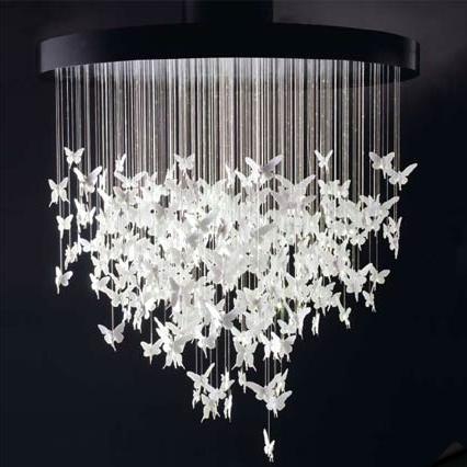 lampadario farfalle