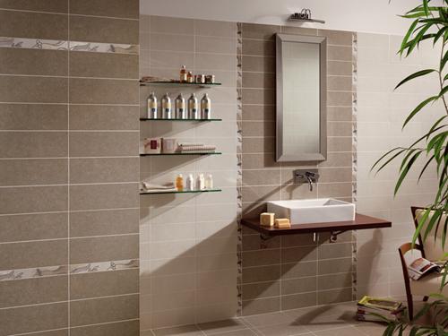 Piastrelle per bagno con colori chiari - Come scaldare il bagno ...