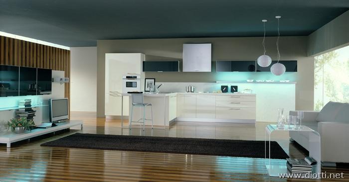 Soggiorno Cucina Open Space Moderno. Simple Arredamento Moderno ...