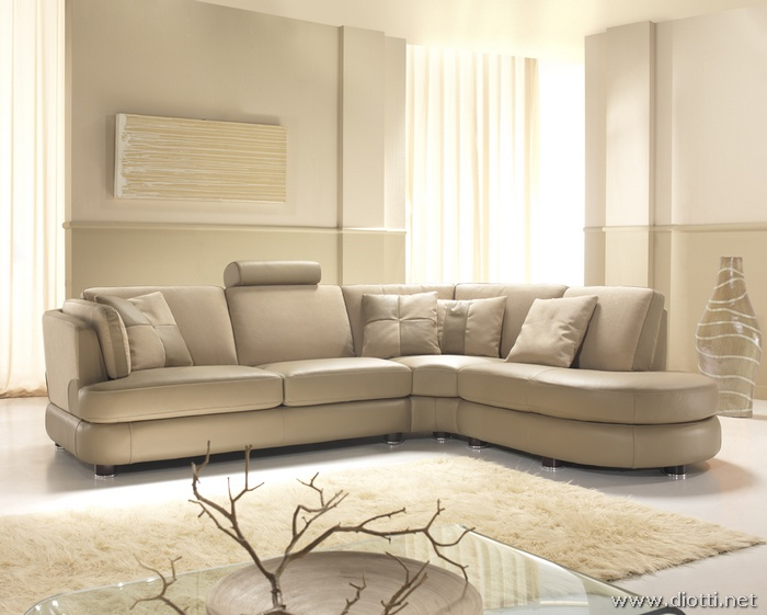 Diotti arredamenti propone lorient moderno salotto angolare - Salon en cuir design italien ...