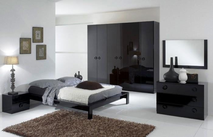 Moderna e rivoluzionaria camera da letto, realizzata con stile e ...