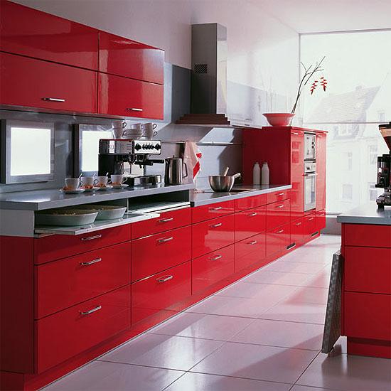 Moderna cucina laccata rossa - Cucina moderna laccata ...
