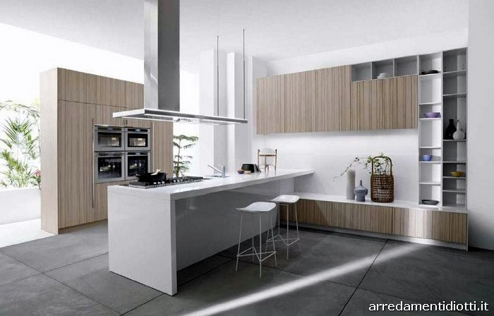 L 39 estetica di una cucina rappresenta l 39 armonia soave dell for Cucina moderna abbonamento