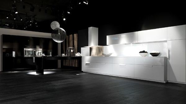moderna cucina bianca e nera
