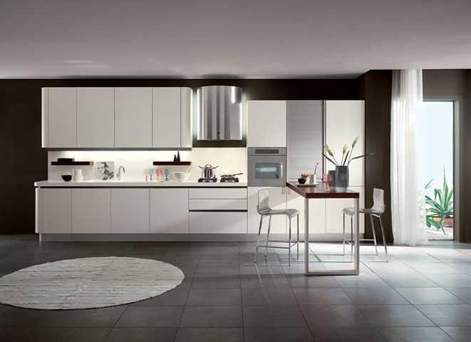 Moderna cucina venere bianca for Cucina moderna abbonamento