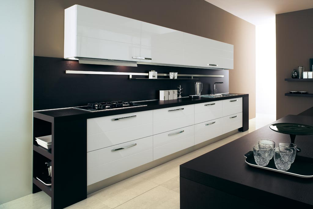 cucine moderne bianche e viola ~ trova le migliori idee per mobili ... - Cucine Moderne Bianche E Nere