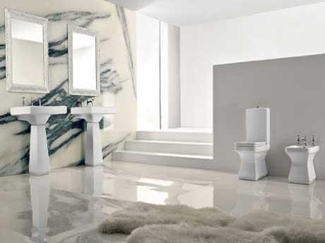 Bagno moderno e rivoluzionario - Piastrelle bagno eleganti ...