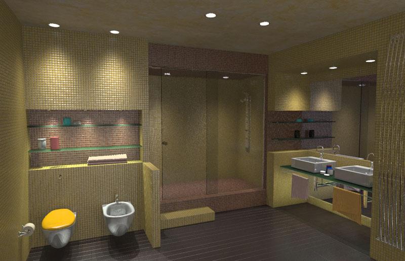 Moderno bagno realizzato con stile e design decisamente innovativi ...