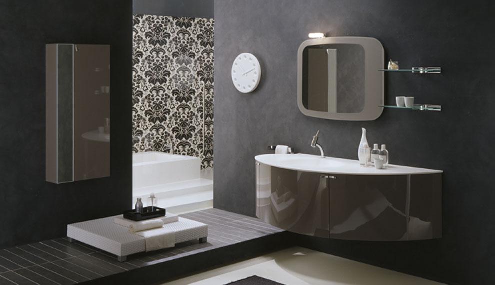 bagno moderni. mobile lavabo design moderno sospeso con maniglioni ... - Bagni Moderni Eleganti