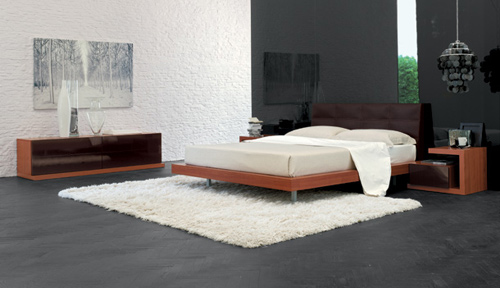Notteidea propone esclusiva e moderna camera da letto - Camera da letto in ciliegio ...