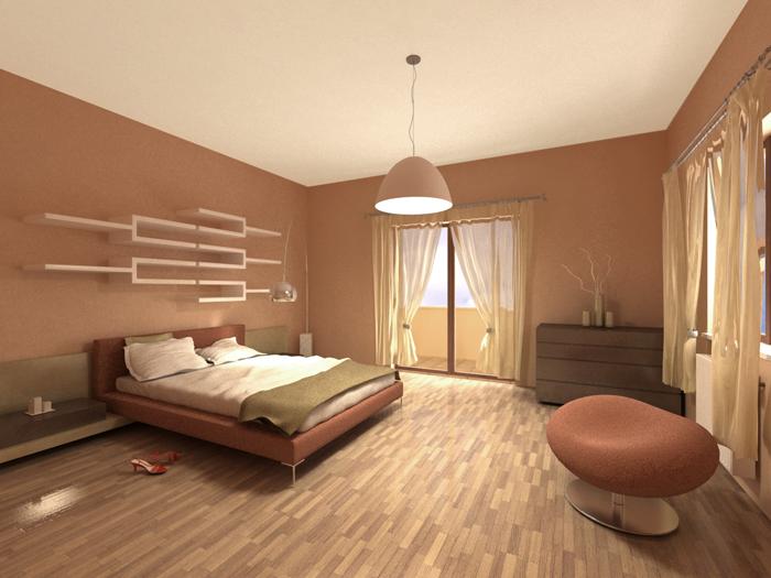 Moderna ed innovativa camera da letto realizzata con stile ...