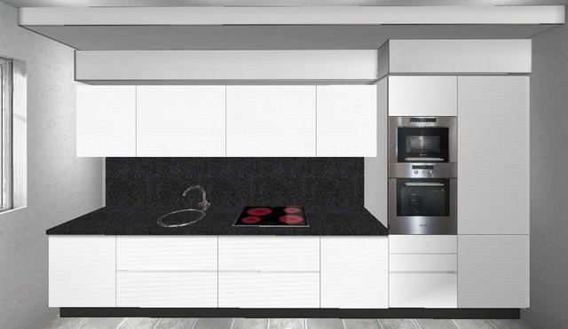Forme Per Cucina Moderna Lineare Con Colonne E Basi In ...