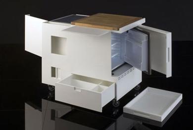 Cucina di piccole dimensioni - Mobile cucina a scomparsa ...