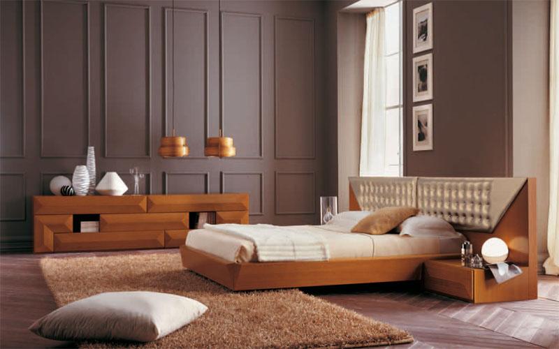 Moderna ed innovativa camera da letto, realizzata da artigiani esperti ...