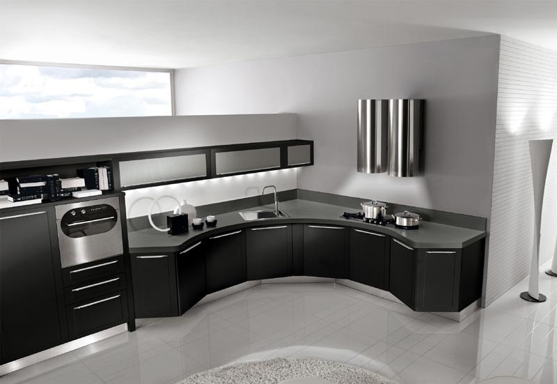 Cucina moderna dai toni veramente eccentrici - Pavimenti cucina moderna ...