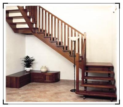 Moderna ed esclusiva scala in legno per interno casa - Scala interna prezzi ...