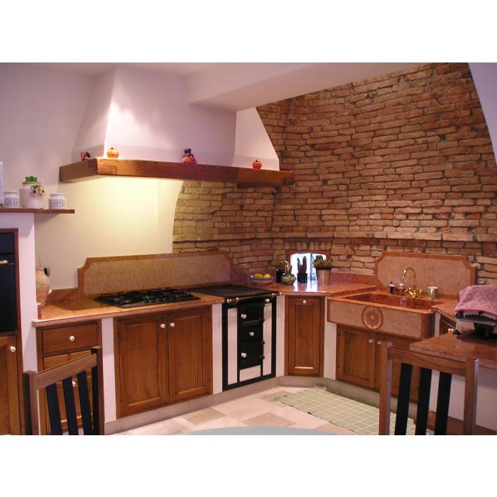 Stunning Cucina In Mattoni Faccia Vista Contemporary - Home ...