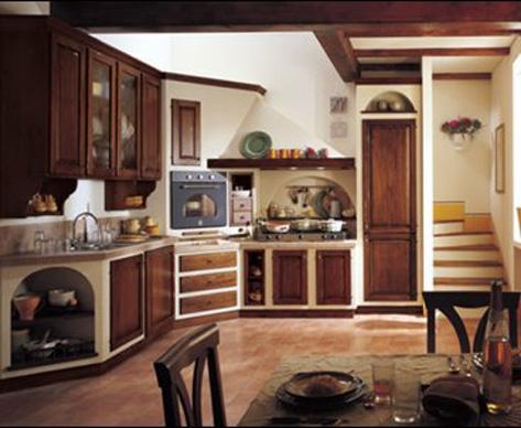 Eccentrica cucina in muratura - Immagini cucine in muratura classiche ...