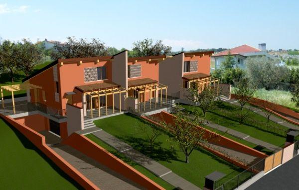 Moderna villetta a schiera for Villetta moderna progetto