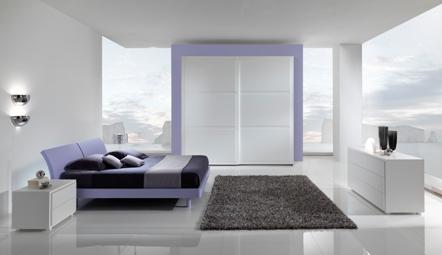 La ditta Giessegi propone esclusiva e modernissima camera da letto ...