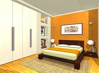 Progettare e disegnare una camera da letto comoda ospitale e modernissima - Progettare la camera ...