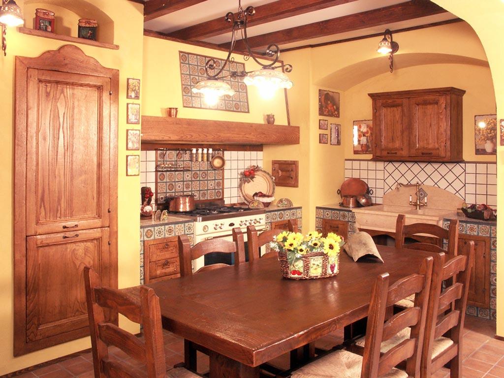 Cucina In Muratura Della Ditta Raimondi Cucine Denominata Tosca Cucina  #BF8F0C 1024 768 Cambiare Colore Al Top Della Cucina