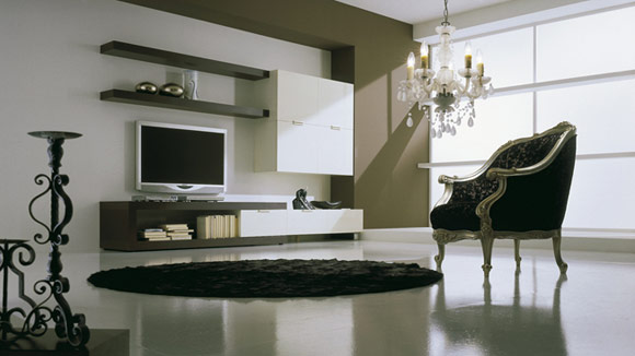Moderno ed innovativo soggiorno for Arredamento salotto moderno foto