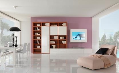 Innovativo ed elegante soggiorno moderno, realizzato con materiali e ...