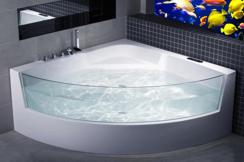 Moderna vasca da bagno con idromassaggio - Vasca da bagno con piedini ...