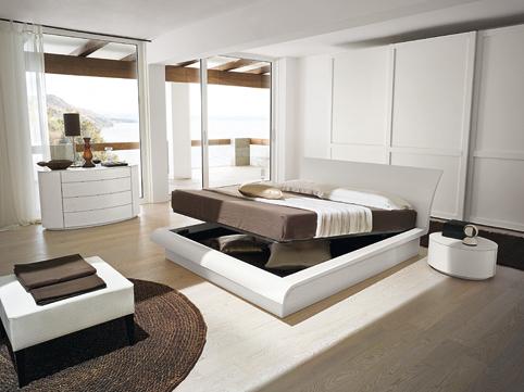 Moderna e rivoluzionaria camera da letto. Realizzata in maniera ...