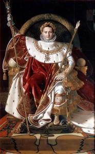 Ingres Napoleon on his Imperial throne 185x300
