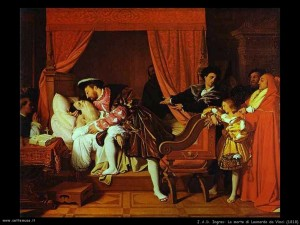 j a d Ingres 021 morte di leonardo da vinci 1818 300x225