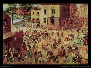 """Pieter Bruegel il Vecchio """"Giochi di bambini"""""""